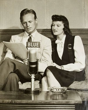 Richard Widmark and Peg Lynch in 1944