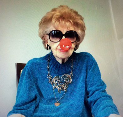 Peg doing Comic Relief